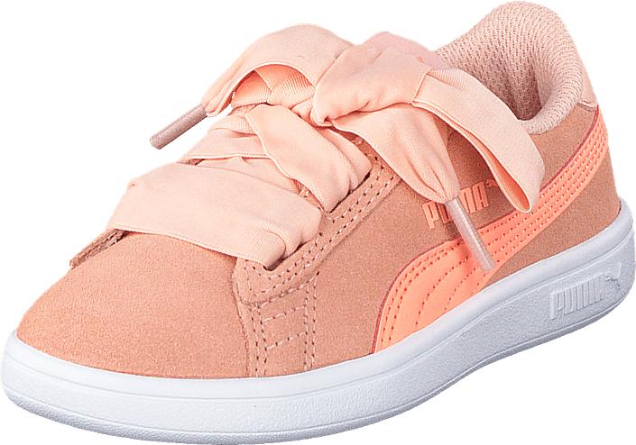 Puma Smash V2 Ribbon Ac Ps Peach Bud-bright Peach, Kengät, Sneakerit ja urheilukengät, Sneakerit, Beige, Vaaleanpunainen, Unisex, 35