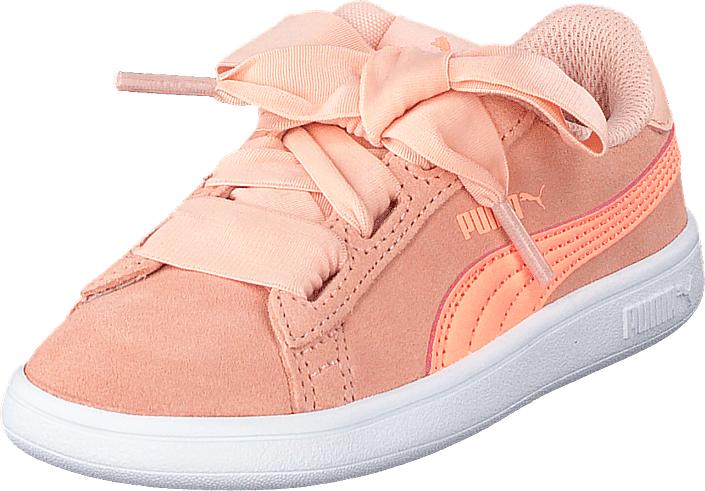 Puma Smash V2 Ribbon Inf Peach Bud-bright Peach, Kengät, Sneakerit ja urheilukengät, Sneakerit, Beige, Vaaleanpunainen, Unisex, 23