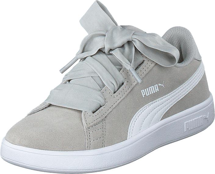 Puma Smash V2 Ribbon Ac Ps Gray Violet-puma White, Kengät, Sneakerit ja urheilukengät, Korkeavartiset tennarit, Valkoinen, Unisex, 28