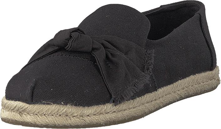Image of Toms Black Canvas Knot Black, Kengät, Matalapohjaiset kengät, Slip on, Musta, Naiset, 38