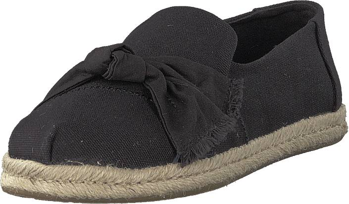 Image of Toms Black Canvas Knot Black, Kengät, Matalapohjaiset kengät, Slip on, Musta, Naiset, 36