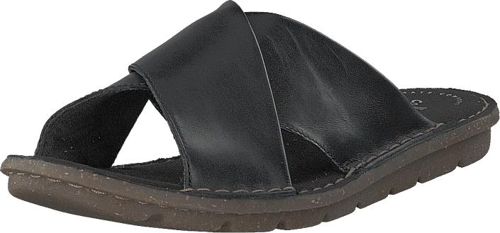 Clarks Blake Sydney Black Leather, Kengät, Sandaalit ja tohvelit, Flip Flopit, Harmaa, Musta, Naiset, 37