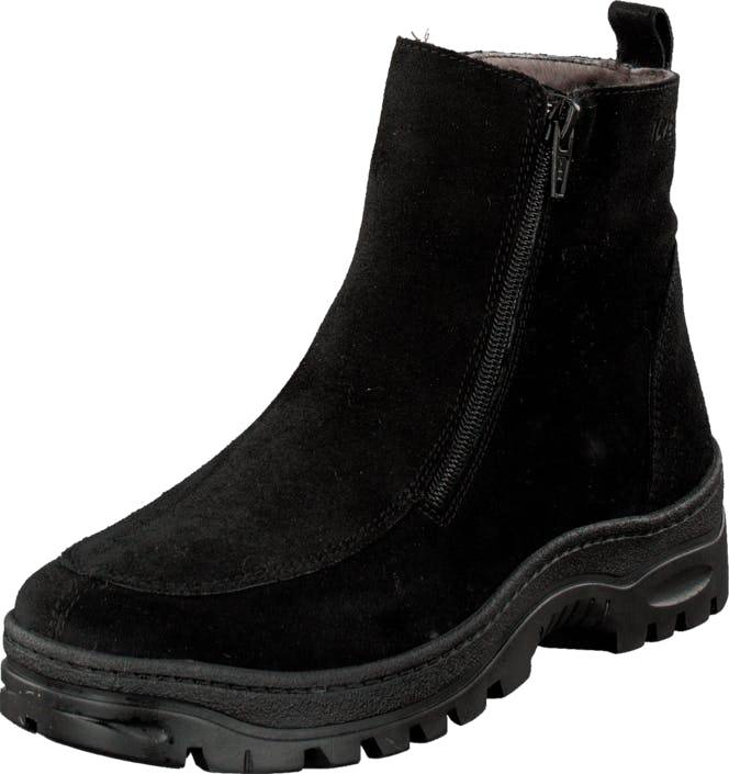 Ilves 756386 Black/Suede, Kengät, Bootsit, Chelsea boots, Musta, Naiset, 37