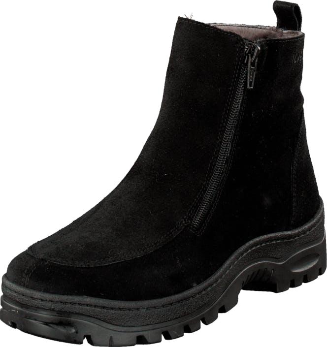 Ilves 756386 Black/Suede, Kengät, Bootsit, Chelsea boots, Musta, Naiset, 39
