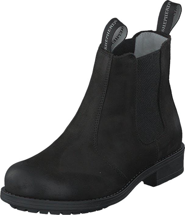 Shepherd Sanna Outdoor Black, Kengät, Bootsit, Korkeavartiset bootsit, Musta, Naiset, 37