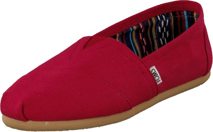 Toms Classics Red, Kengät, Matalat kengät, Ballerinat, Punainen, Naiset, 36