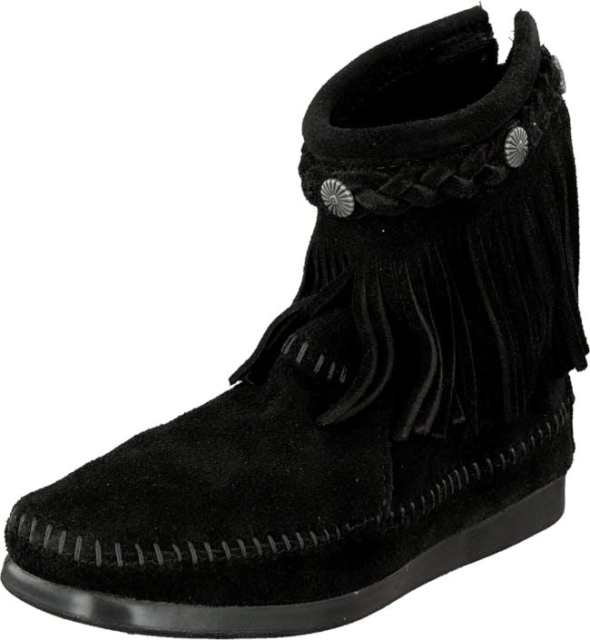 Image of Minnetonka Hi Top Back Zip Boot, Kengät, Bootsit, Kengät, Musta, Naiset, 36