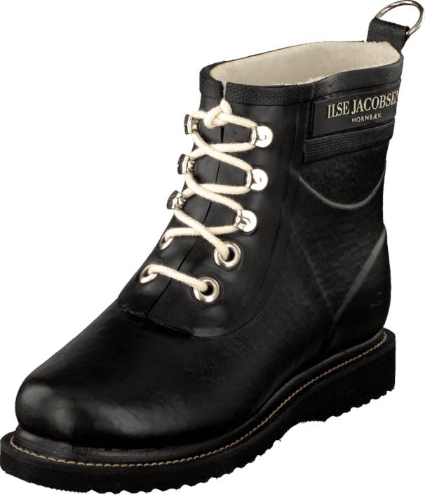 Ilse Jacobsen Short Rubberboot Black, Kengät, Saappaat ja saapikkaat, Kumisaappaat, Musta, Naiset, 38