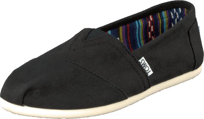 Toms Classics Wmn Black, Kengät, Matalat kengät, Slip on, Musta, Naiset, 38