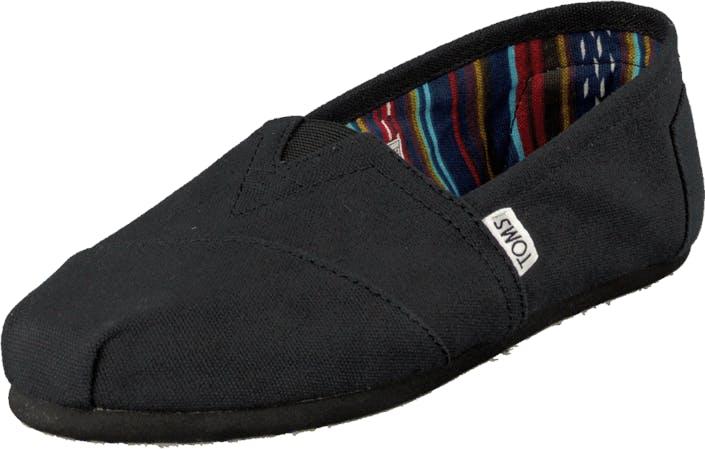 Toms Classics Wmn Black Mono, Kengät, Matalat kengät, Slip on, Musta, Naiset, 41