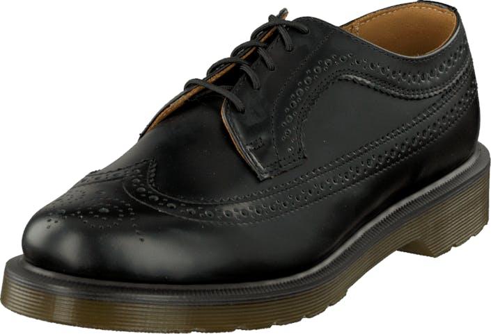 Image of Dr Martens Wingtip 3989 Black, Kengät, Matalapohjaiset kengät, Juhlakengät, Musta, Unisex, 43