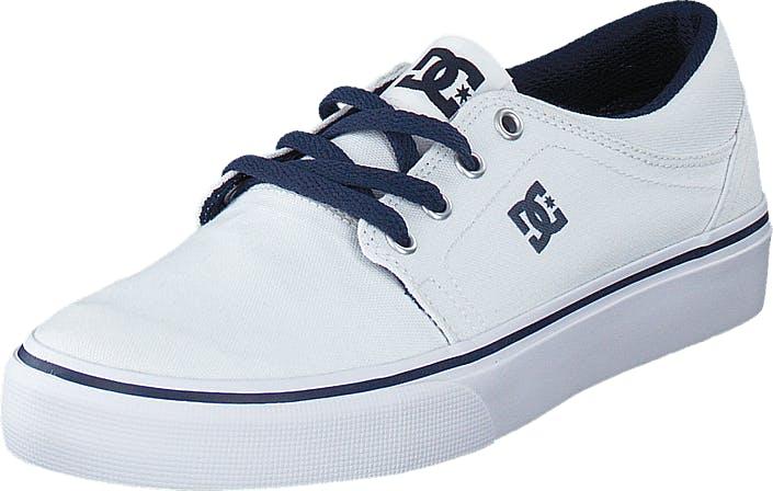 DCShoe Shoes Dc Kids Trase Tx Shoe White/Navy, Kengät, Matalat kengät, Kangaskengät, Valkoinen, Lapset, 29
