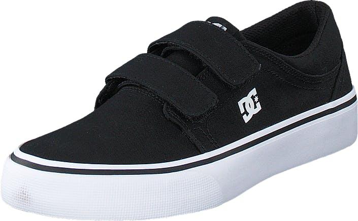 DCShoe Shoes Dc Kids Trase V Shoe Black/White, Kengät, Matalat kengät, Kangaskengät, Musta, Lapset, 30