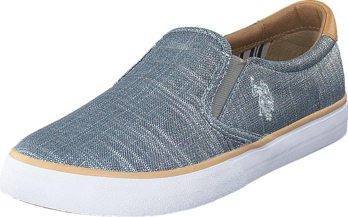 U.S. Polo Assn Nova Lamé Blue, Kengät, Matalat kengät, Slip on, Sininen, Naiset, 36