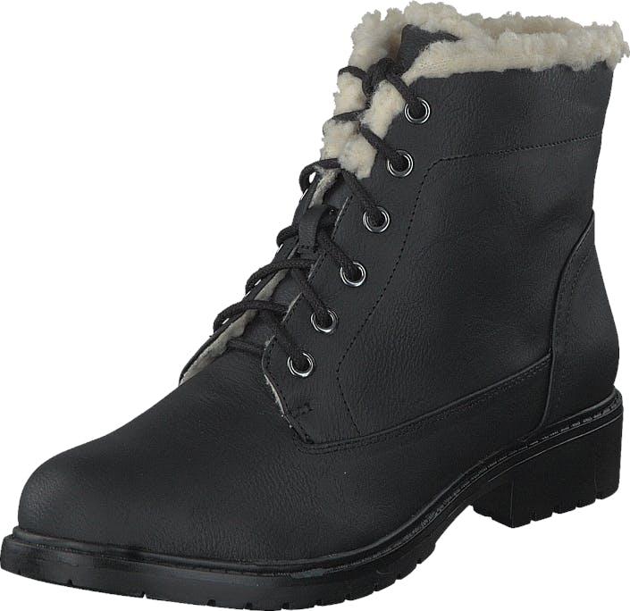 Bianco Laced Up Warm Boot Black, Kengät, Bootsit, Kengät, Harmaa, Musta, Naiset, 36