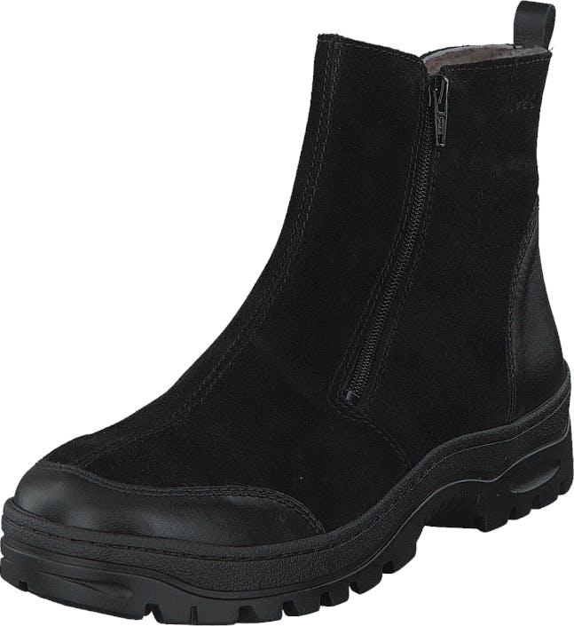 Ilves 7528 Black Black, Kengät, Bootsit, Lämminvuoriset kengät, Musta, Naiset, 42