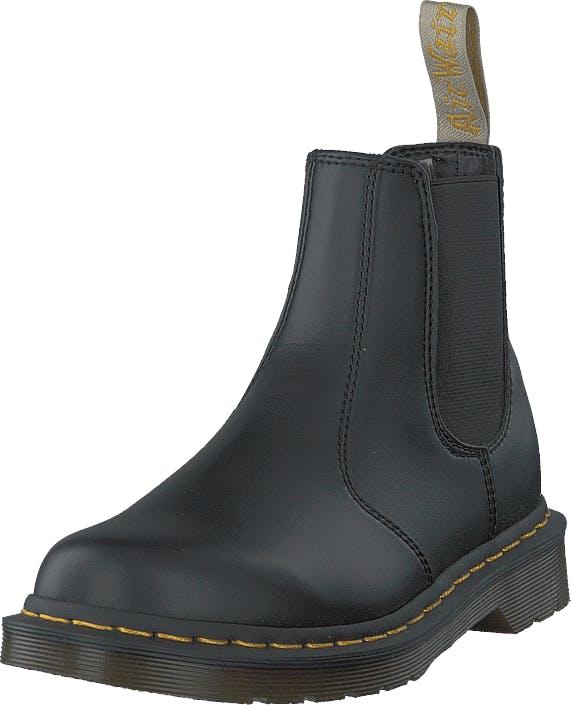 Image of Dr Martens 2976 Vegan Black, Kengät, Bootsit, Chelsea boots, Harmaa, Musta, Unisex, 42