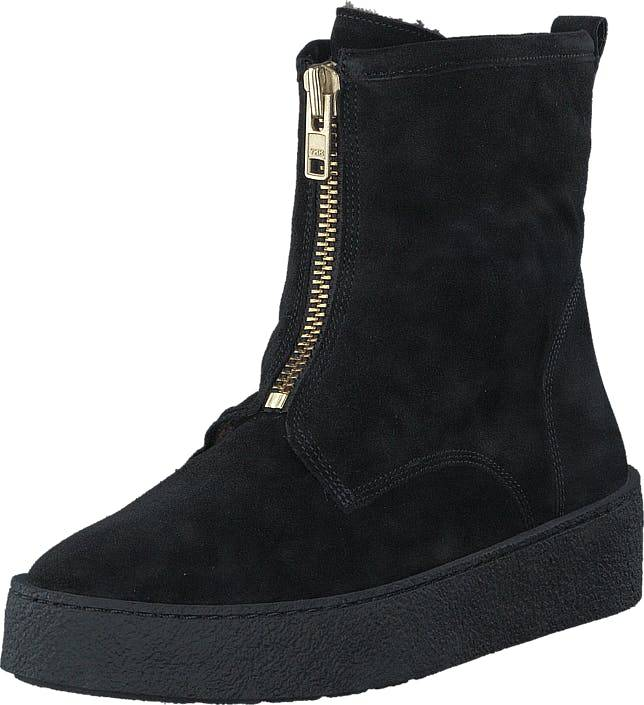 Billi Bi 502 Black Suede Gold Black Sole Black, Kengät, Bootsit, Curlingkengät, Musta, Naiset, 37