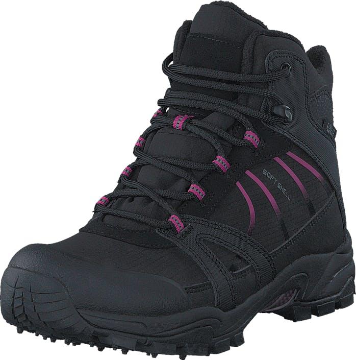 Polecat 430-4401 Waterproof Warm Lined Black/Fuchsia ICE-Tech Studs, Kengät, Bootsit, Vaelluskengät, Musta, Naiset, 38