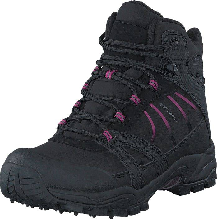 Polecat 430-4401 Waterproof Warm Lined Black/Fuchsia ICE-Tech Studs, Kengät, Bootsit, Vaelluskengät, Musta, Naiset, 41