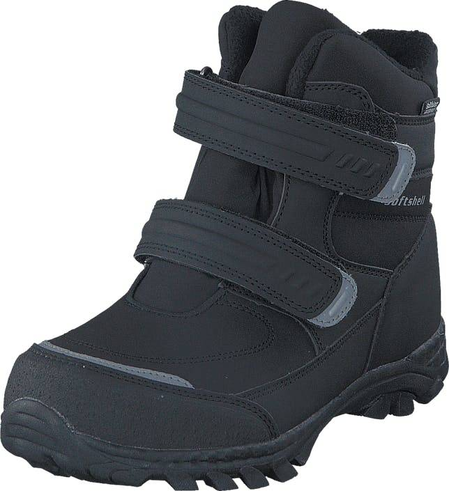 Gulliver 435-6608 Waterproof Warm Lined Black, Kengät, Bootsit, Vaelluskengät, Musta, Lapset, 35