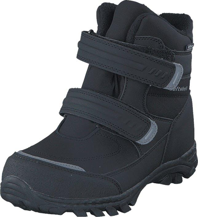 Gulliver 435-6608 Waterproof Warm Lined Black, Kengät, Bootsit, Vaelluskengät, Musta, Lapset, 28