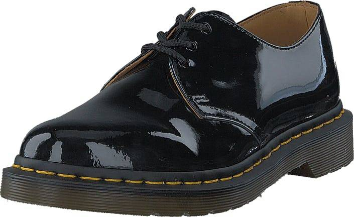 Image of Dr Martens 1461 Black Patent, Kengät, Matalapohjaiset kengät, Juhlakengät, Harmaa, Naiset, 42