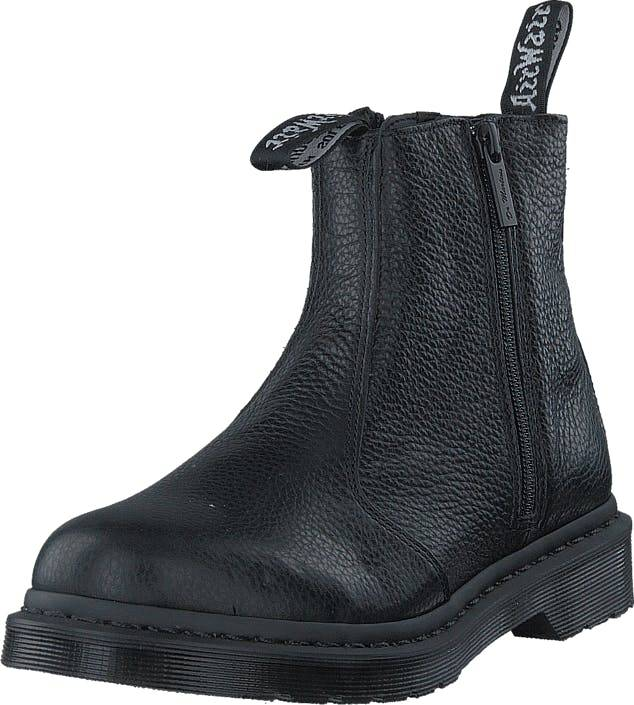 Image of Dr Martens 2976 w Zip Black, Kengät, Bootsit, Chelsea boots, Harmaa, Naiset, 36