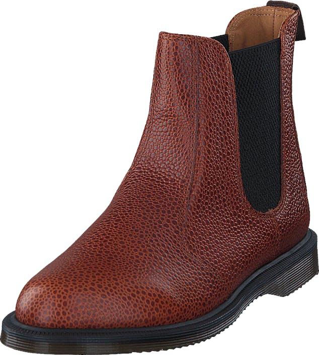 Image of Dr Martens Flora Chestnut, Kengät, Bootsit, Chelsea boots, Punainen, Naiset, 36