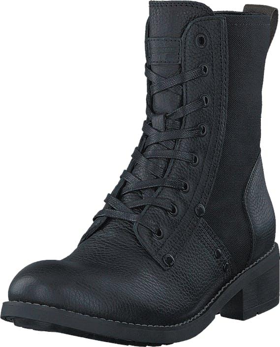 G-Star Raw Labour Boot Military Lth/Capter Denim, Kengät, Bootsit, Korkeavartiset bootsit, Musta, Naiset, 37