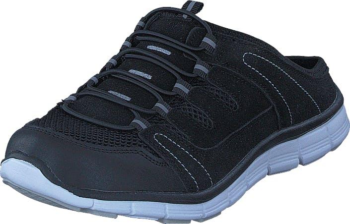 Polecat 435-1309 Comfort Sock Black, Kengät, Sandaalit ja Tohvelit, Tohvelit, Musta, Unisex, 38