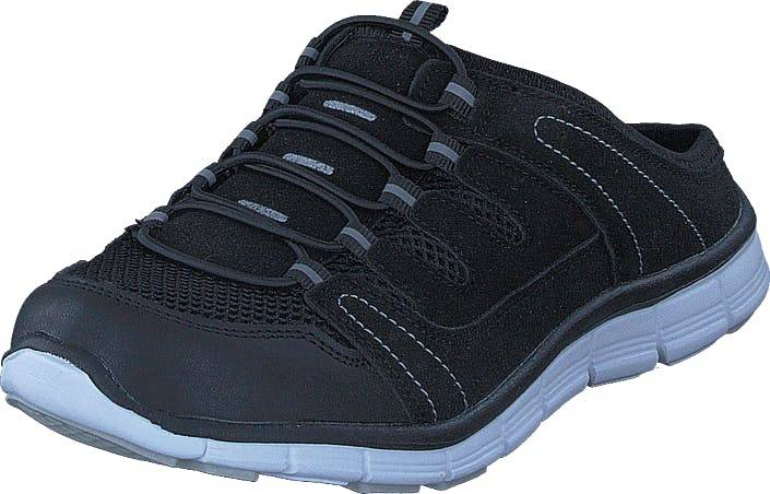Polecat 435-1309 Comfort Sock Black, Kengät, Sandaalit ja Tohvelit, Tohvelit, Musta, Unisex, 44