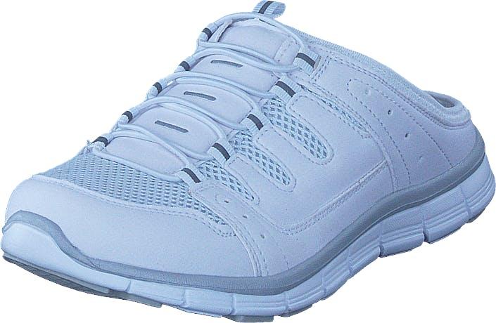 Polecat 435-1309 Comfort Sock White, Kengät, Sandaalit ja Tohvelit, Tohvelit, Valkoinen, Naiset, 38