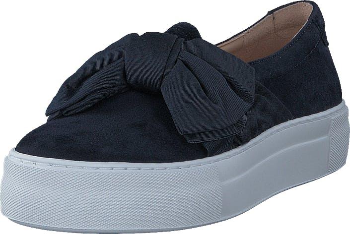 Billi Bi 6026 Navy Suede Satin, Kengät, Matalapohjaiset kengät, Slip on, Sininen, Naiset, 36