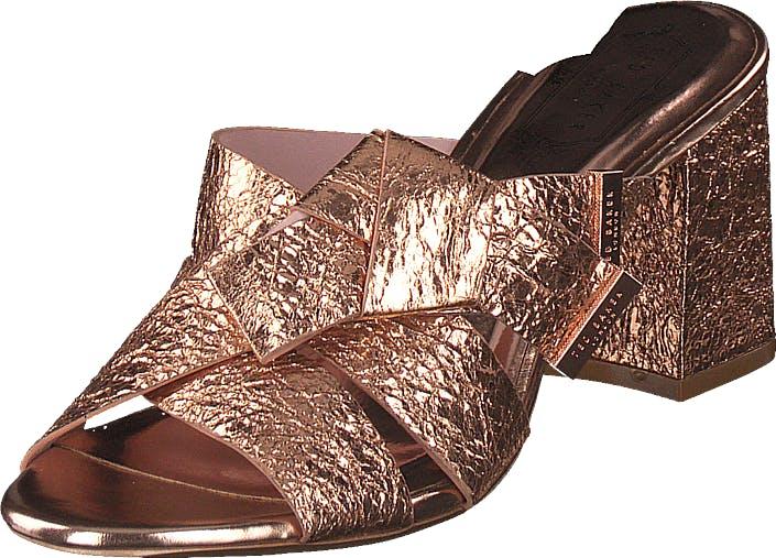 Ted Baker Lauruz Rose Gold, Kengät, Korkokengät, Matalakorkoiset Sandaletit, Ruskea, Kulta, Vaaleanpunainen, Naiset, 36