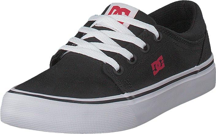 DCShoe Shoes Trase Tx Black/Red/White, Kengät, Matalat kengät, Kävelykengät, Musta, Lapset, 30
