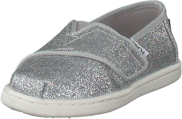 Toms Alpargata Tiny Silver Iridescent Glimmer, Kengät, Matalat kengät, Slip on, Harmaa, Hopea, Lapset, 24
