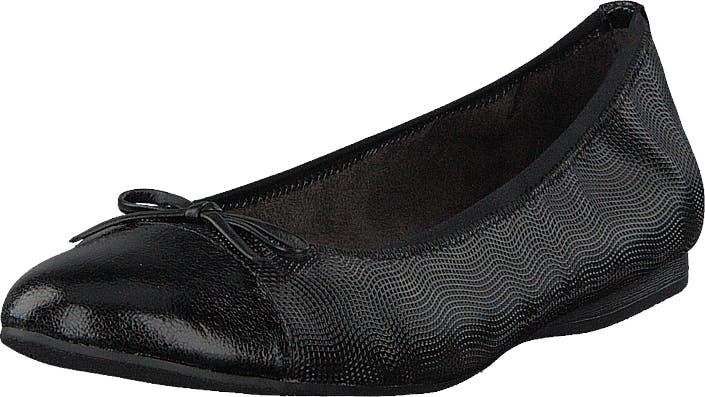 Image of Tamaris 22129-706 Black Structure, Kengät, Matalapohjaiset kengät, Ballerinat, Musta, Naiset, 38