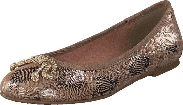 Image of Tamaris 22142-336 Pepper Metal, Kengät, Matalat kengät, Ballerinat, Ruskea, Naiset, 36
