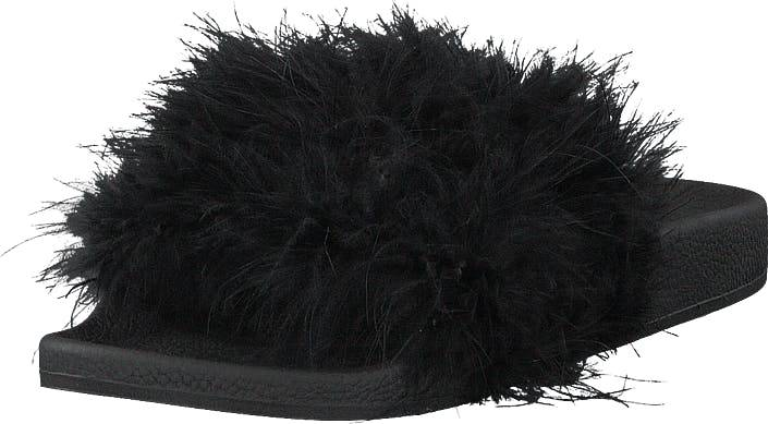 The White Brand Feathers Black, Kengät, Sandaalit ja tohvelit, Sandaalit, Musta, Naiset, 41