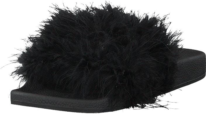 The White Brand Feathers Black, Kengät, Sandaalit ja Tohvelit, Sandaalit, Musta, Naiset, 39
