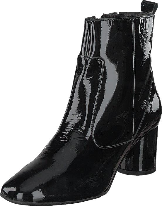 Bianco Boot W/round Heel Jas18 Black, Kengät, Saappaat ja Saapikkaat, Nilkkurit, Harmaa, Naiset, 40