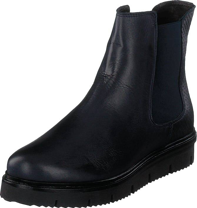 Bianco Warm Cleated Chelsea Jas18 Navy Blue, Kengät, Bootsit, Chelsea boots, Musta, Naiset, 38