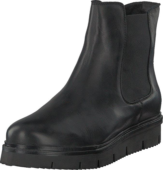 Bianco Cleated Chelsea Jas18 Black, Kengät, Bootsit, Chelsea boots, Musta, Naiset, 37