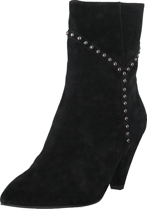 Sofie Schnoor Boot With Y Studs Silver Black, Kengät, Saappaat ja Saapikkaat, Korkeat nilkkurit, Musta, Naiset, 38