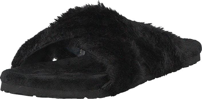 Svea Alex Cross Fur Black, Kengät, Sandaalit ja Tohvelit, Sandaalit, Musta, Naiset, 37