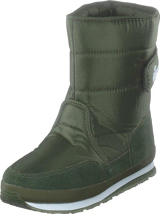 Rubber Duck Rd Nylon Suede Solid Khaki, Kengät, Bootsit, Lämminvuoriset kengät, Vihreä, Naiset, 36