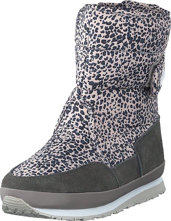 Rubber Duck Rd Nylon Suede Solid Grey Leo, Kengät, Bootsit, Lämminvuoriset kengät, Harmaa, Naiset, 36