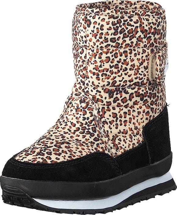 Rubber Duck Rd Print Kids Tan Leo, Kengät, Bootsit, Lämminvuoriset kengät, Beige, Musta, Lapset, 25