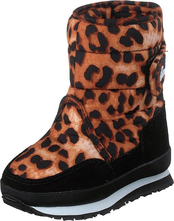 Rubber Duck Rd Print Kids Wild Animal, Kengät, Bootsit, Lämminvuoriset kengät, Musta, Punainen, Lapset, 23